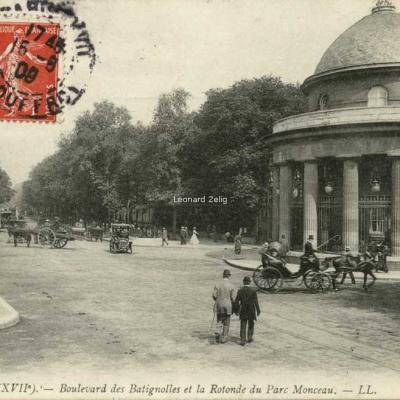 LL 1546 - PARIS (XVII°) - Boulevard des Batignolles et la Rotonde du Parc Monceau