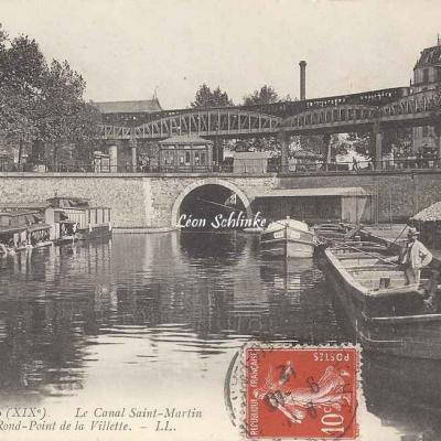 LL 1640 - Le Canal Saint-Martin et le Rd-Pt de la Villette