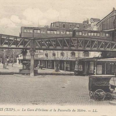 LL 1685 - La Gare d'Orléans et la Passerelle du Métro