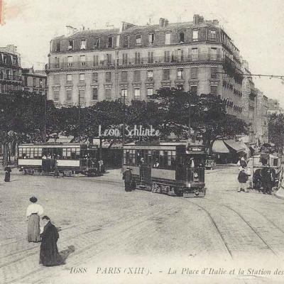 LL 1688 - La Place d'Italie et la Station de Tramways