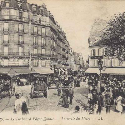 LL 1696 - Le Boulevard Edgar-Quinet - La sortie du Métro