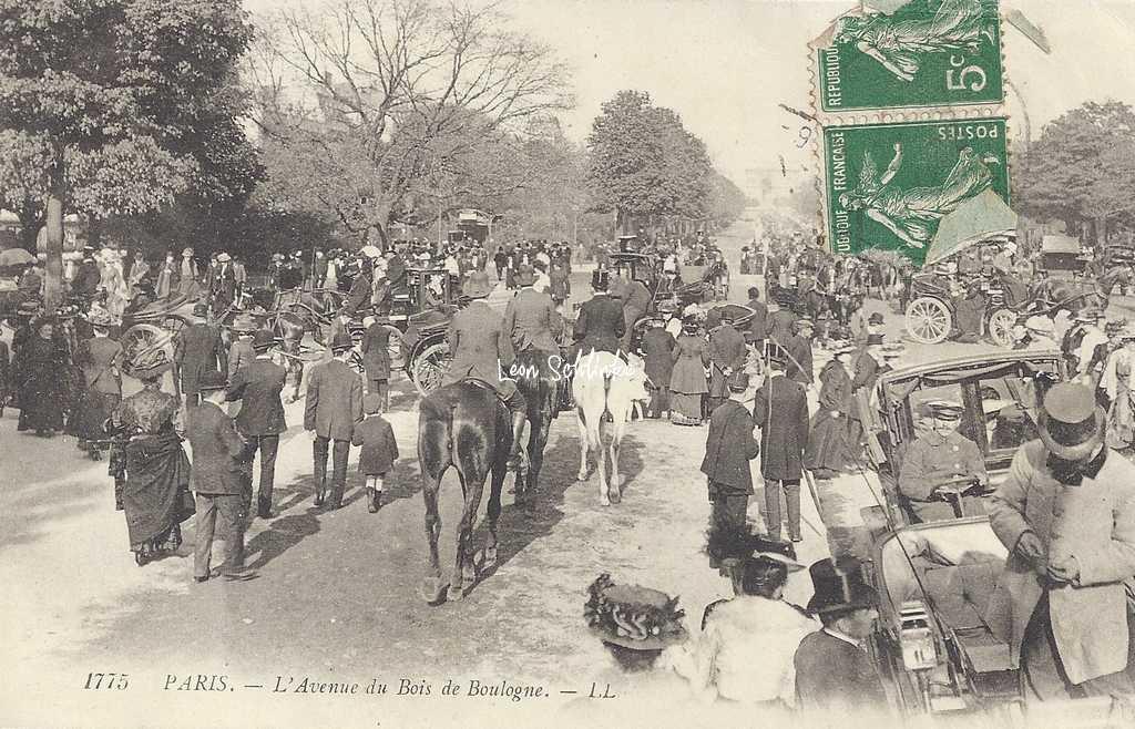 LL 1175 - PARIS - L'Avenue du Bois de Boulogne