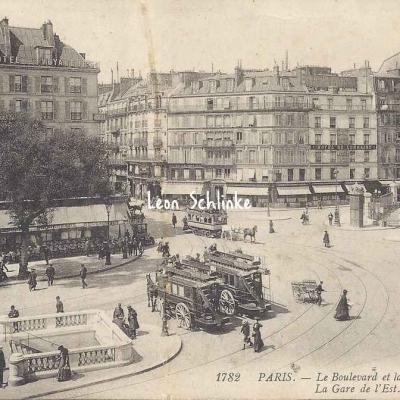 LL 1782 - Le Boulevard et la Rue de Strasbourg - Gare de l'Est