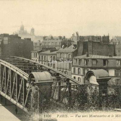 LL 1806 - Vue vers Montmartre et le Métro