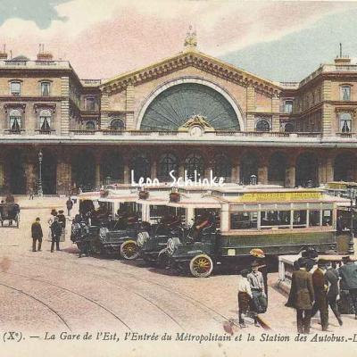 LL 1919 - La Gare de l'Est, Métro et Autobus