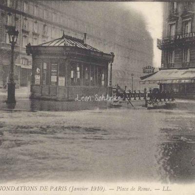 LL 210 - Inondations de Paris - Place de Rome