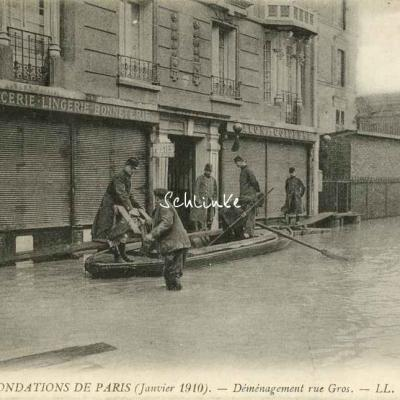 LL 24 - Inondations 1910 - Déménagement rue Gros