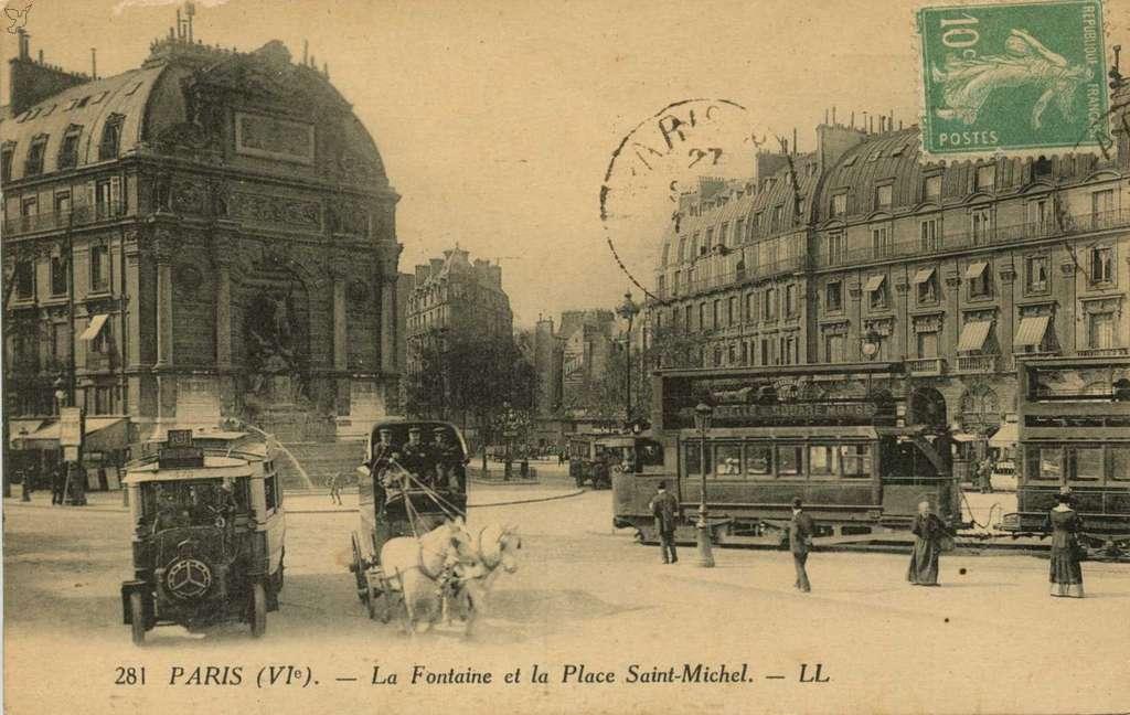 LL 281 - La Fontaine et la Place Saint-Michel