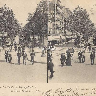 LL 3 - Paris-Instantané - La Sortie du Métro à la Pte Maillot
