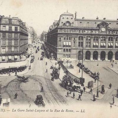 LL 63 - La Gare Saint-Lazare et la Rue de Rome