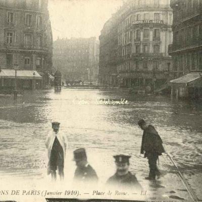 LL 67 - Inondations de Paris - Place de Rome