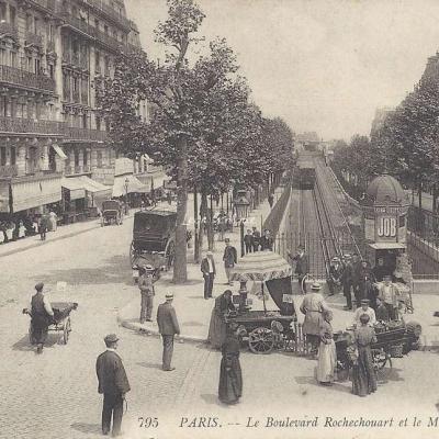 LL 795 - Le Boulevard Rochechouart et le Metropolitain
