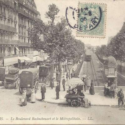 LL 795 - Le Boulevard Rochechouart et le Métropolitain