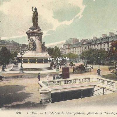 LL 801 - La Station du Métropolitain, place de la République