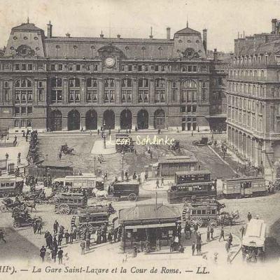 LL 979 - La Gare Saint-Lazare et la Cour de Rome
