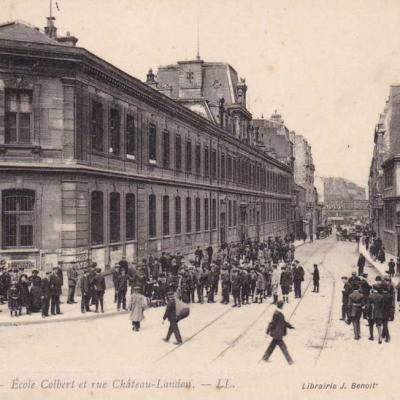 LL - PARIS (X°). - Ecole Colbert et rue Chateau-Landon