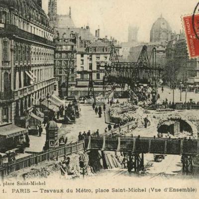 LM 1 - vue d'ensemble des Travaux, Pl. St-Michel