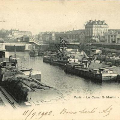 BURGY (Louis) 45 - Le Canal St-Martin - La Bastille