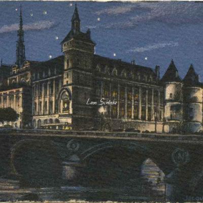 1195 - Paris au clair de lune