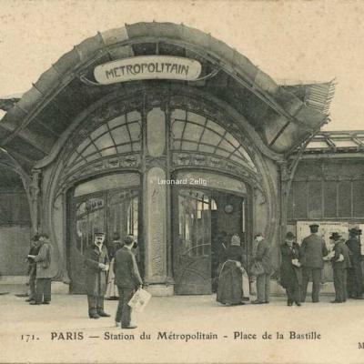 Magasins Réunis 171 - PARIS - Station du Métropolitain - Place de la Bastille