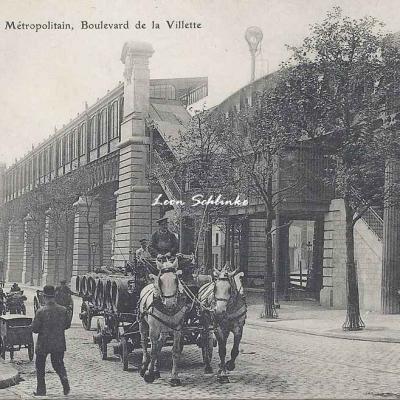 Magasins Réunis 192 - Métropolitain, boulevard de la Villette