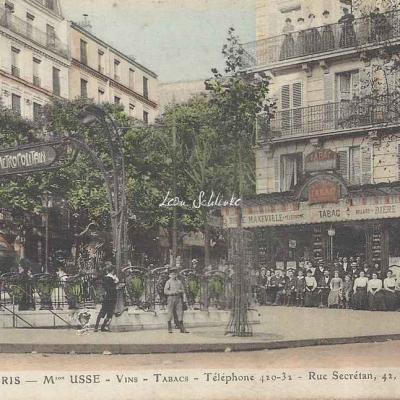 Maison USSE - Vins - Tabacs - angle Secrétan · Bolivar