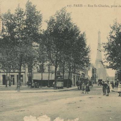 Marmuse 237 - PARIS - Rue St-Charles, prise de la Place St-Charles