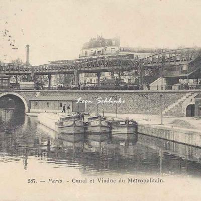 Marmuse 287 - Canal et Viaduc du Métropolitain