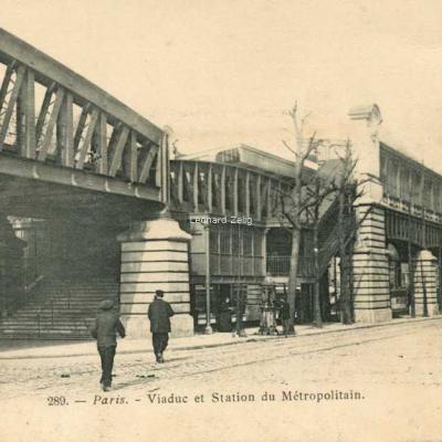 Marmuse 289 - Paris - Viaduc et Station du Métropolitain