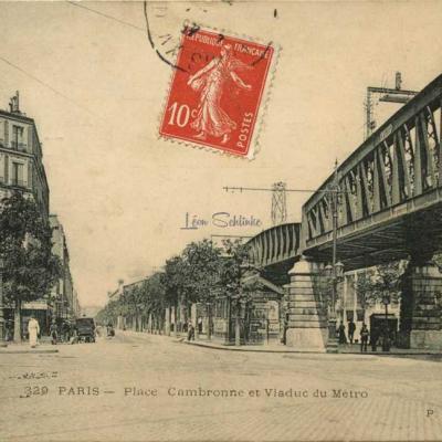 Marmuse 329 - PLace Cambronne et Viaduc du Métro