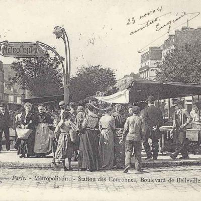 Marmuse 336 - Métropolitain - Station des Couronnes, Bd de Belleville
