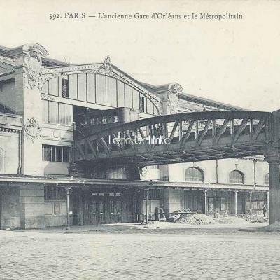 Marmuse 392 - L'ancienne Gare d'Orléans et le Métropolitain