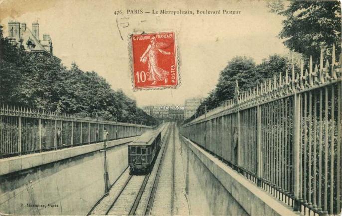 Marmuse 476 - PARIS - Le Métropolitain, Boulevard Pasteur