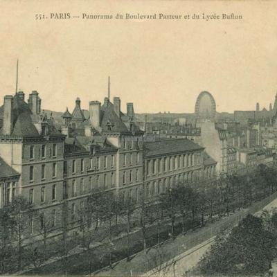 Marmuse 551 - PARIS - Panorama du Boulevard Pasteur et du Lycée Buffon