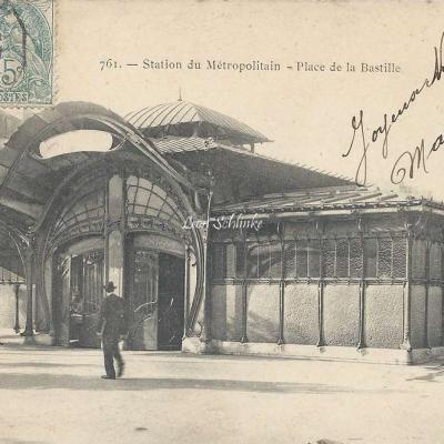 Marmuse 761 - Station du Metropolitain - Place de la Bastille