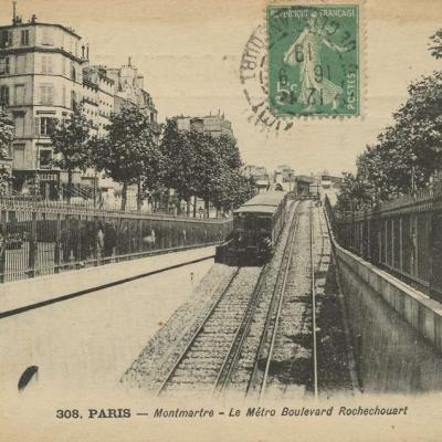 MD 308 - PARIS - Montmartre - Le Métro Boulevard de Rochechouart