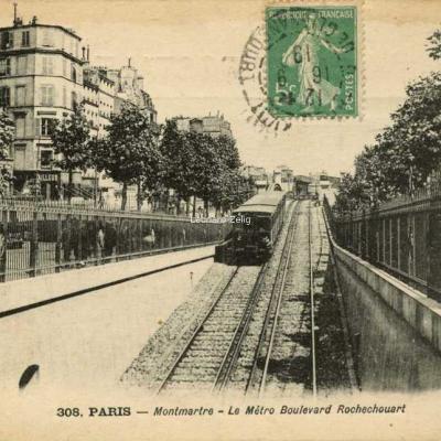 MD 308 - PARIS - Montmartre - Le Métro Boulevard Rochechouart
