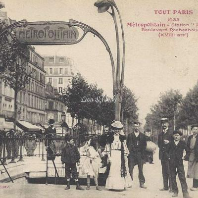 Tout Paris 1033 - Metropolitain Station Anvers Bd Rochechouart