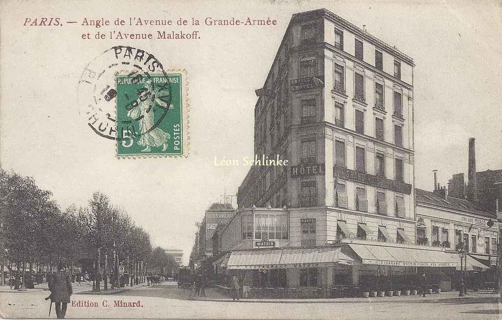 Minard C. Edition - Angle de l'Avenue de la Grande-Armée et Malakoff