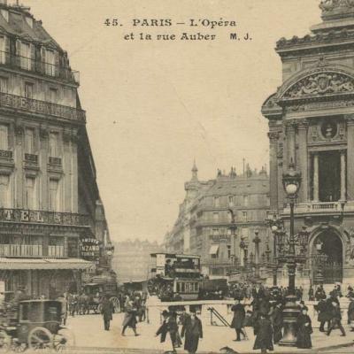 MJ 45 - PARIS - L'Opéra et la rue Auber