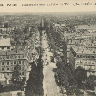 MJ 613 - PARIS - Panorama pris de l'Arc de Triomphe de l'Etoile