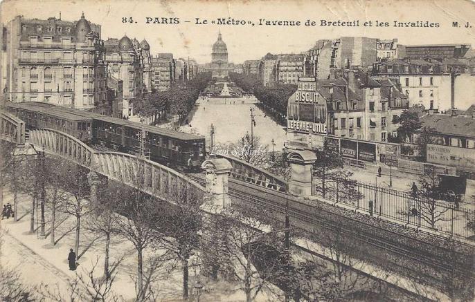 MJ 84 - Le Metro, l'Avenue de Breteuil et les Invalides
