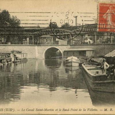 MR 140 - PARIS (XIX°) - Le Canal Saint-Martin et le Rond-Point de la Villette