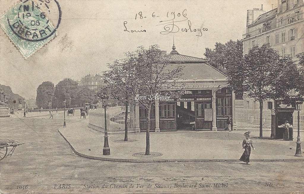 ND 1036 - Station du Chemin de Fer de Sceaux, Bd St-Michel
