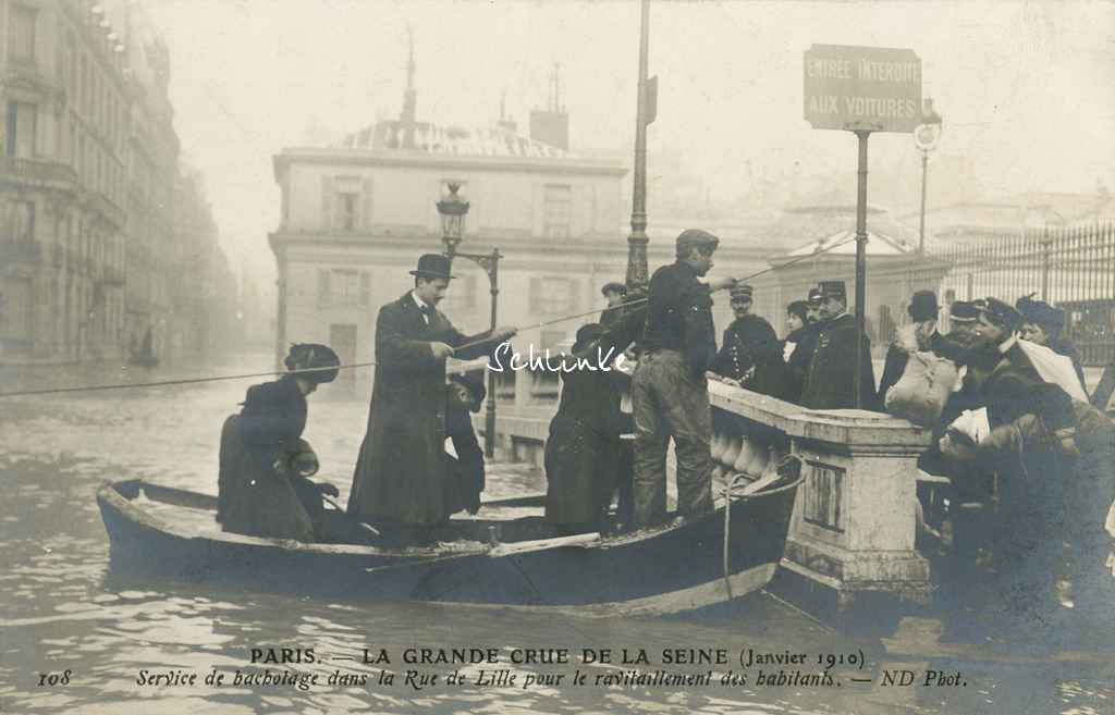 ND 108 - Grande Crue - Service de bachotage rue de Lille