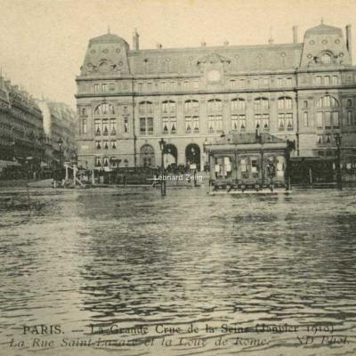 ND 120 - PARIS La Rue Saint-Lazare et la Cour de Rome