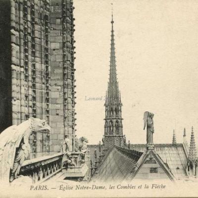 1219 - PARIS - Eglise Notre-Dame, les Combles et la Flèche