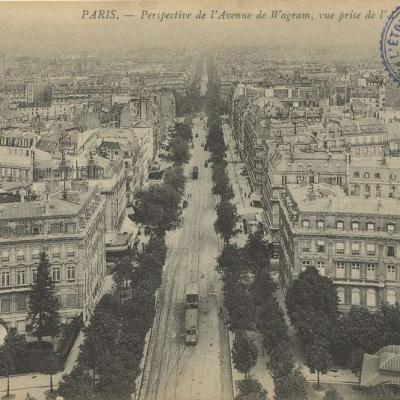 ND 1681 - Perspective de l'Avenue de Wagram prise de l'Arc de Triomphe