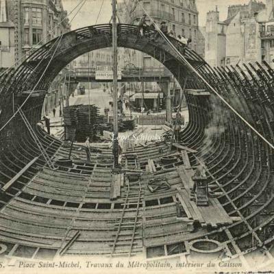 ND 1703 - Place St-Michel, intérieur du caisson