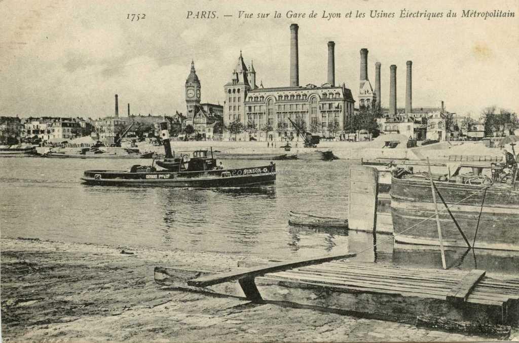 ND 1752 - Vue sur la Gare de Lyon et les Usines Electriques du Metro